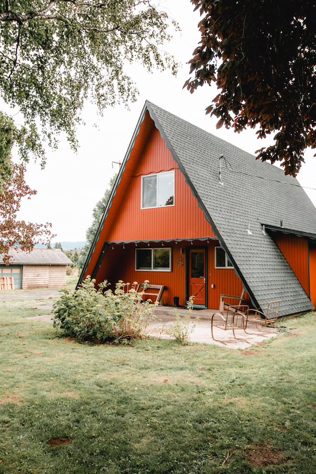 Red A-Frame