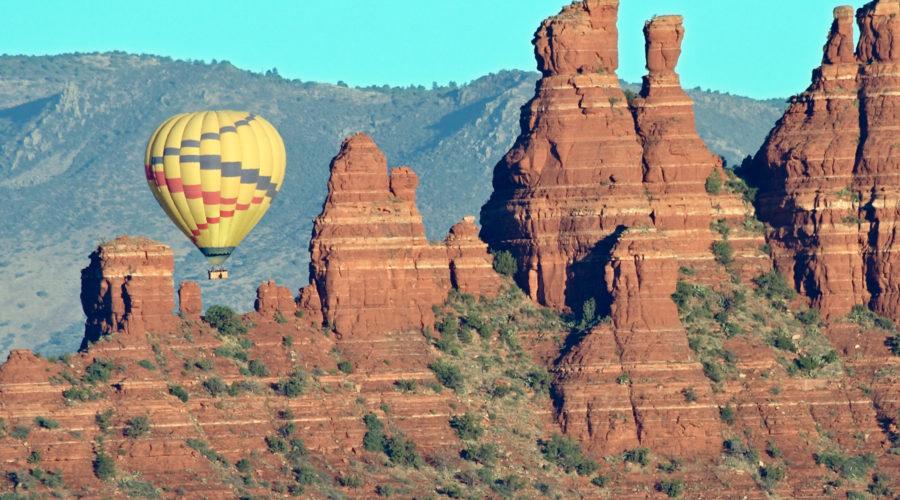Fly up, up, and away over Sedona, Arizona
