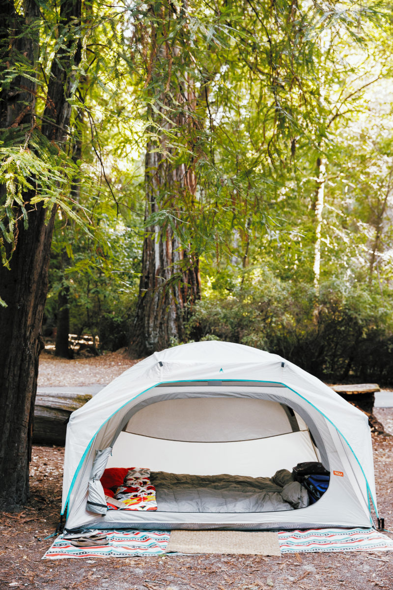 Clutter-free camping