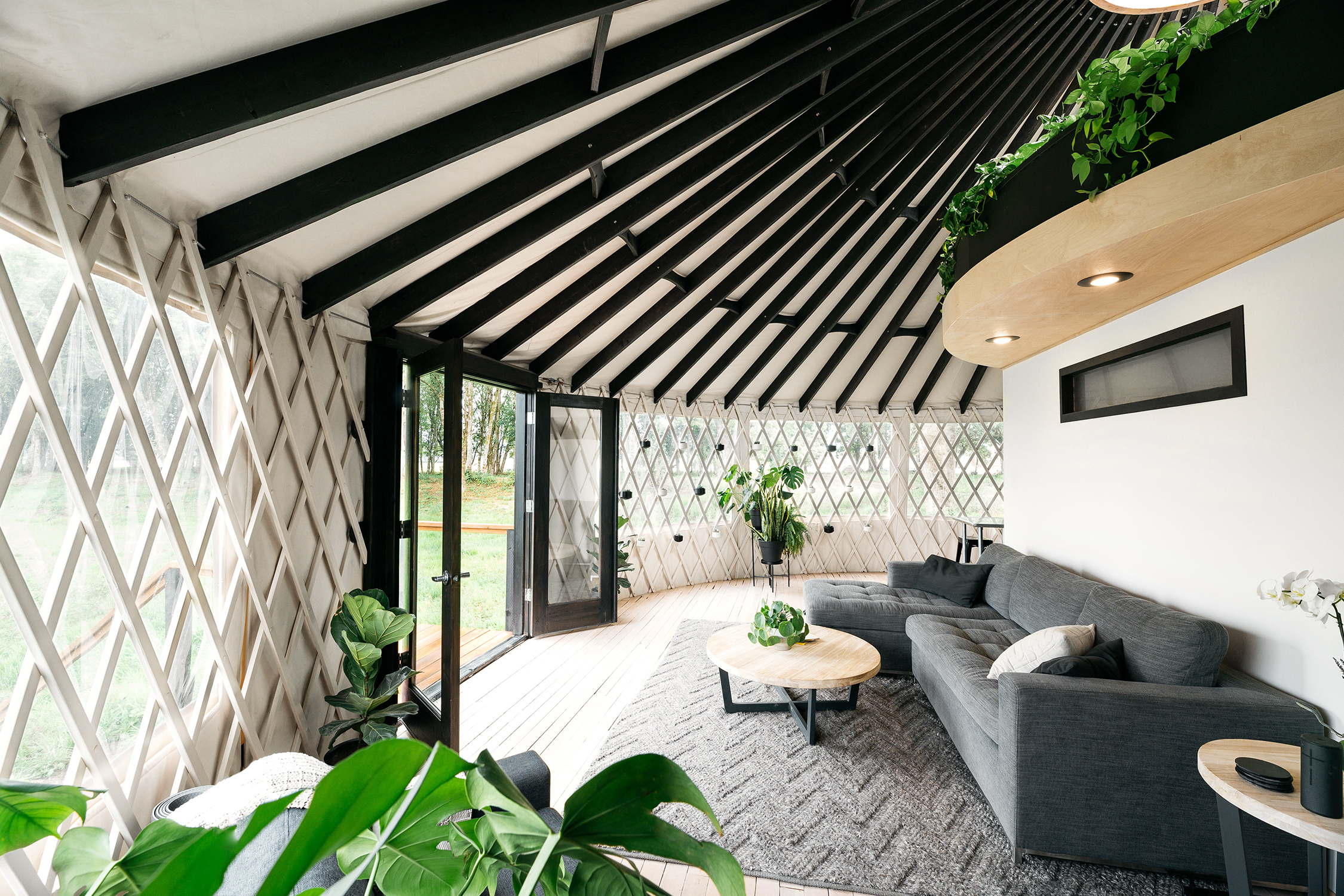 Move Into A Modern Foliage Filled Yurt Sunset Magazine The basic design is essentially like an enhanced tent. move into a modern foliage filled yurt
