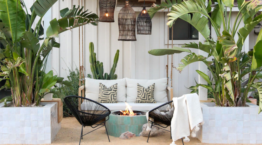 tropical outdoor makeover hommeboys backyard