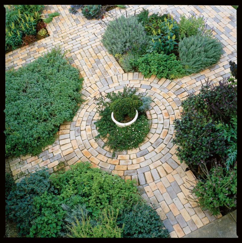 Classic kitchen garden paths