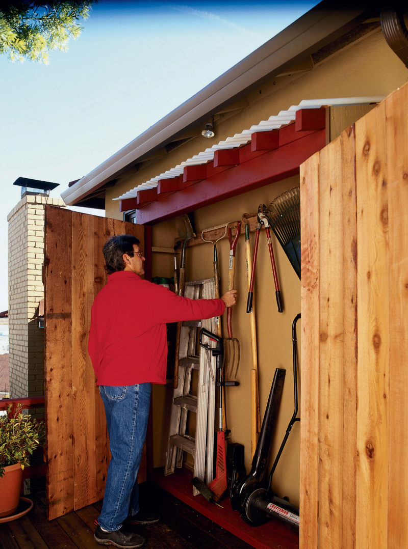 How To Make An Under Eaves Toolshed Sunset Magazine