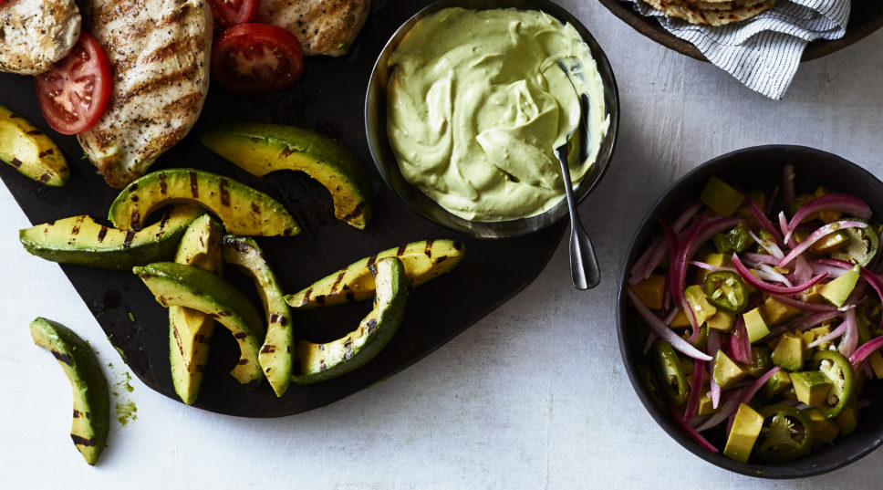 Grilled Chicken with Avocado Three Ways