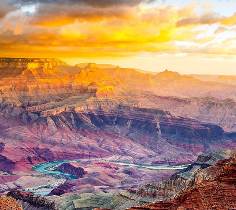 Sunrise over the Grand Canyon—no filter needed. (Photo by Thomas J. Story / Sunset Publishing.)