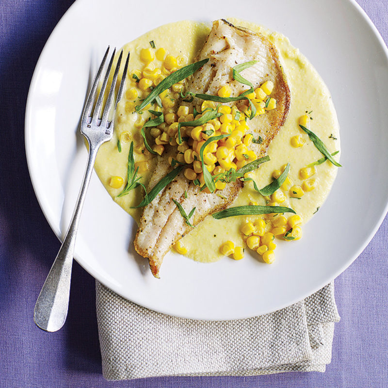 Trout with Sweet Corn Sauce