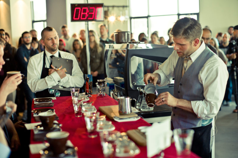 Last year's champ, barista Jared Truby (photo courtesy of Verve).