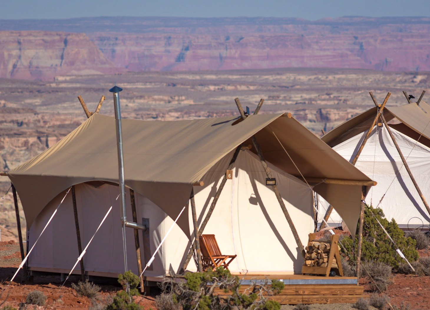 This New Glamping Site is an Oasis in the Desert - Sunset