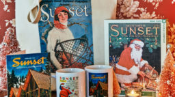 vintage sunset magazine mugs cards puzzles and totes