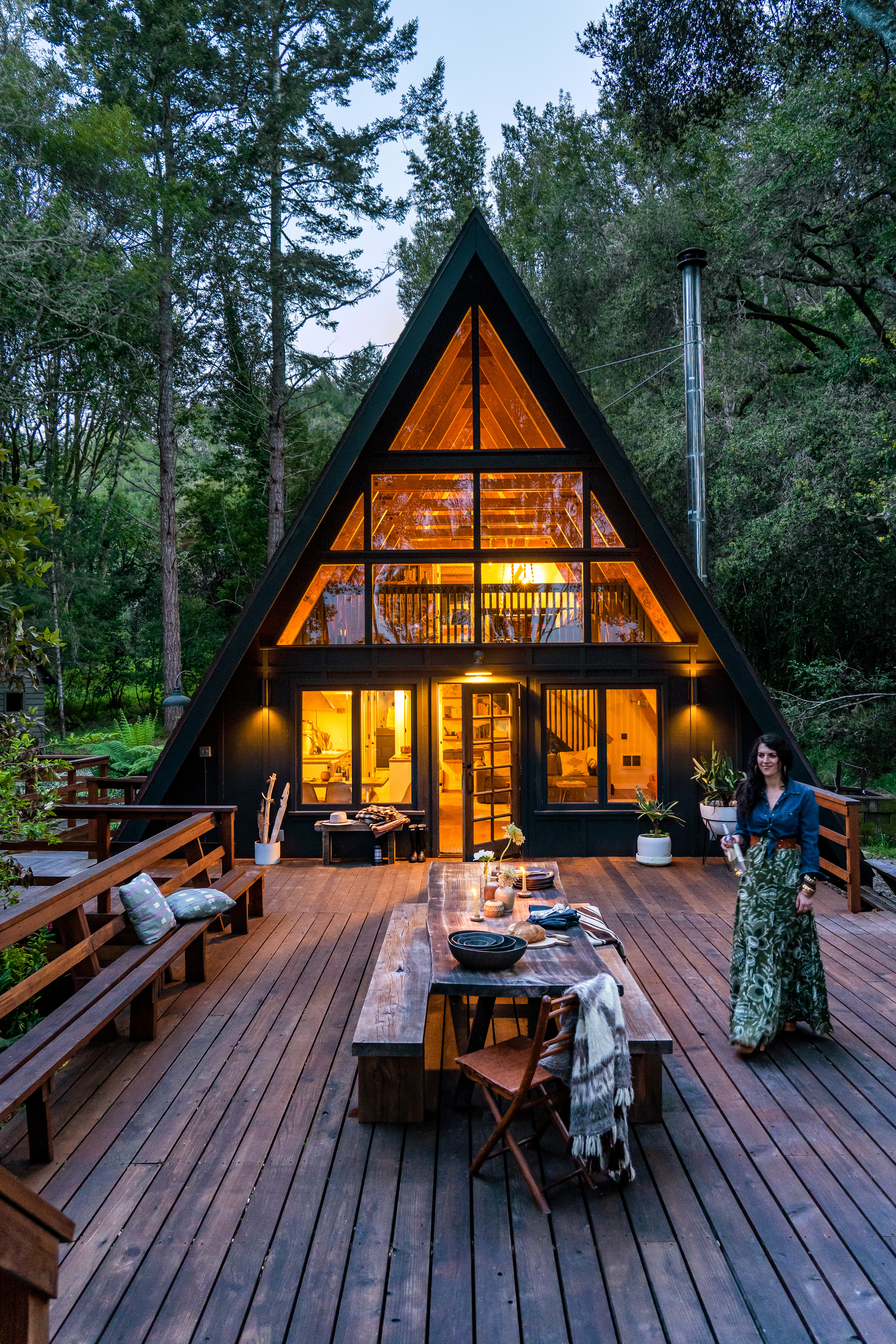 This A Frame Cabin In West Marin Is A Modern Boho Paradise Sunset Magazine