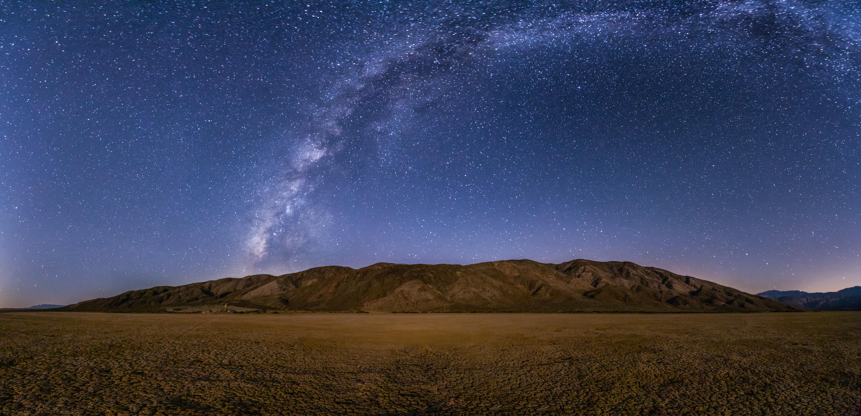 Starry sky over mountain Anza-Borrego Desert