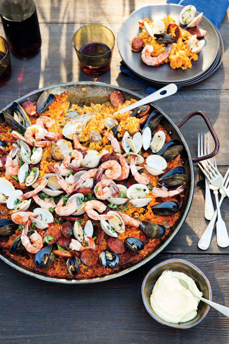 Paella potluck party