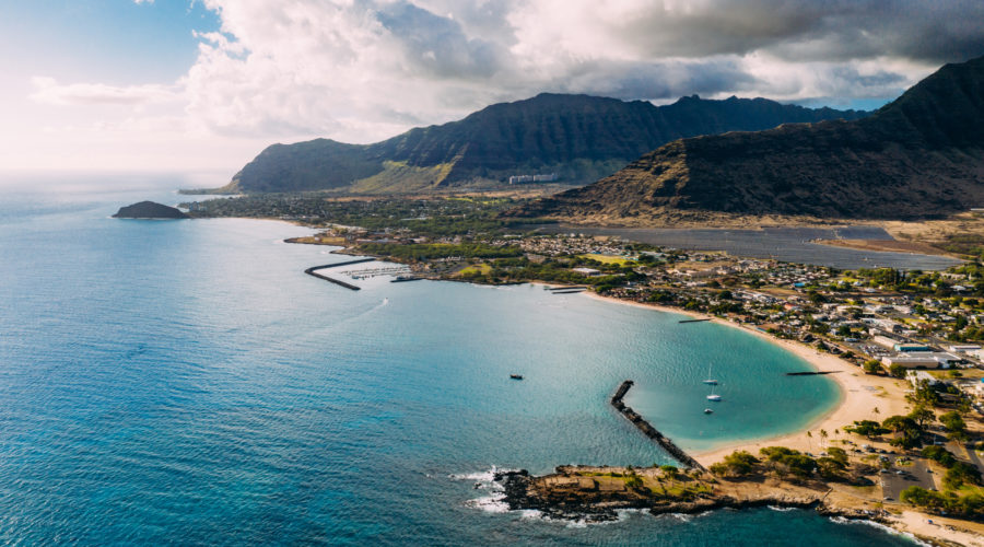 Pokai Bay Beach in Oahu, a great options for affordable thanksgiving getaways