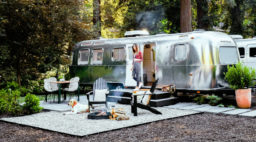 Airstream, Auto Camp at Russian River in Guerneville California