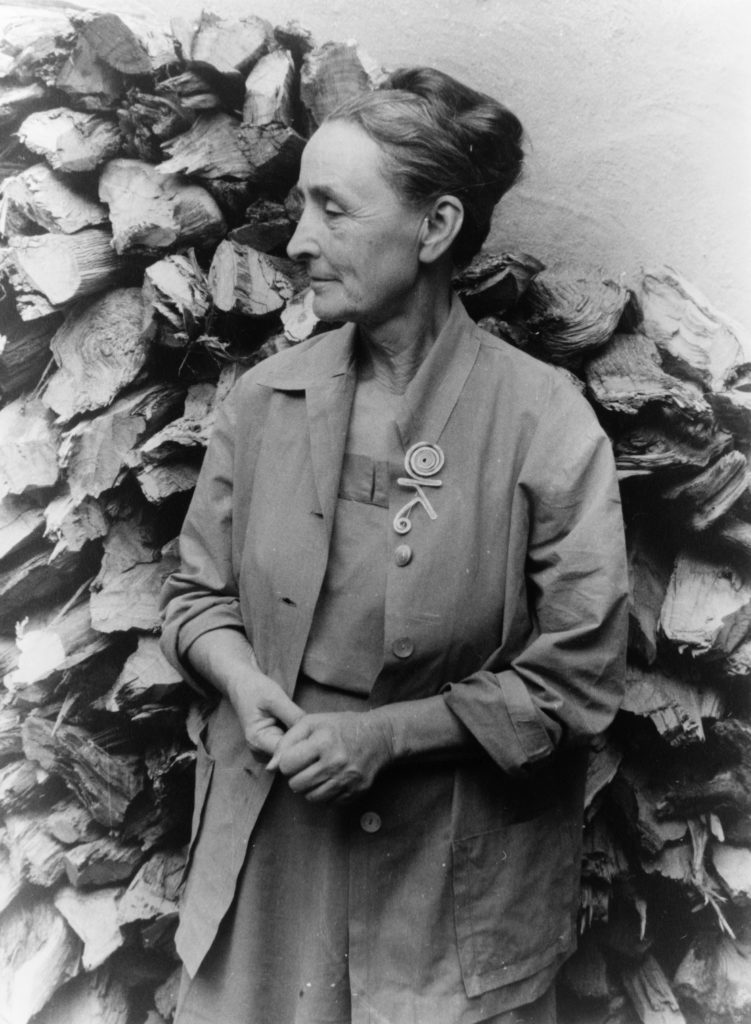 Georgia O'Keeffe in Abiquiu, New Mexico