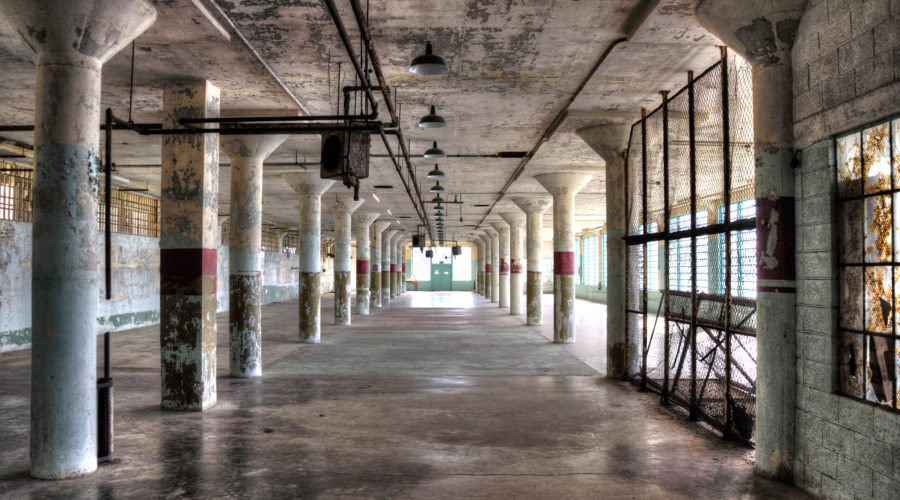 Inside the prison at Alcatraz, which has some of the scariest ghost stories