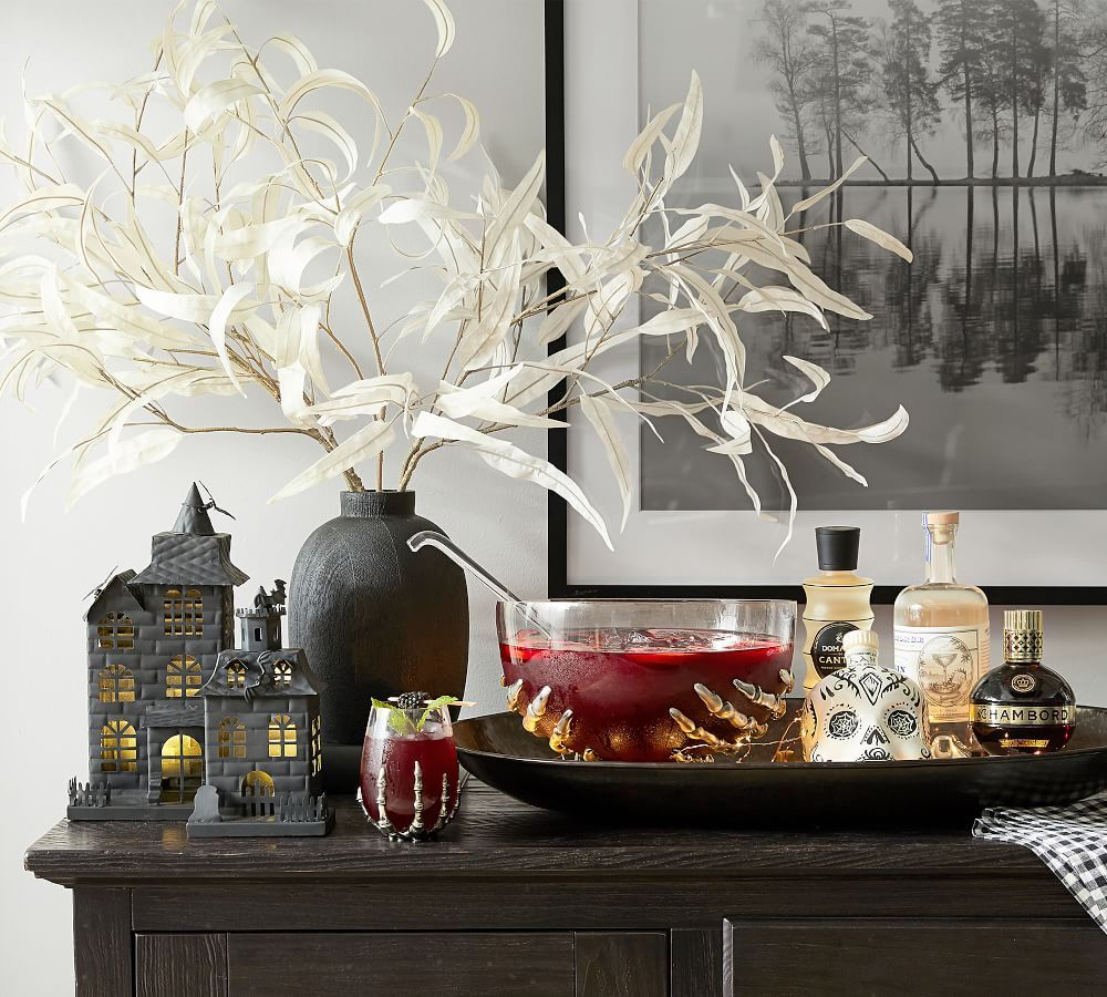 pottery barn haunted house skeleton collection