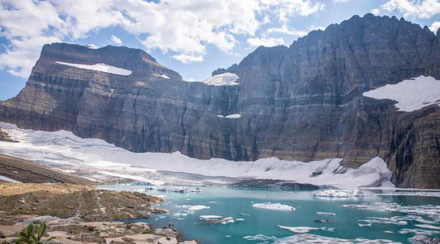Grinnel Glacier at Glacier National Park off Highway 89