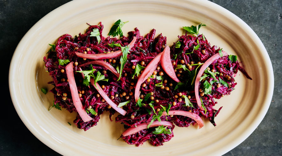 Roasted Beets with Tahini