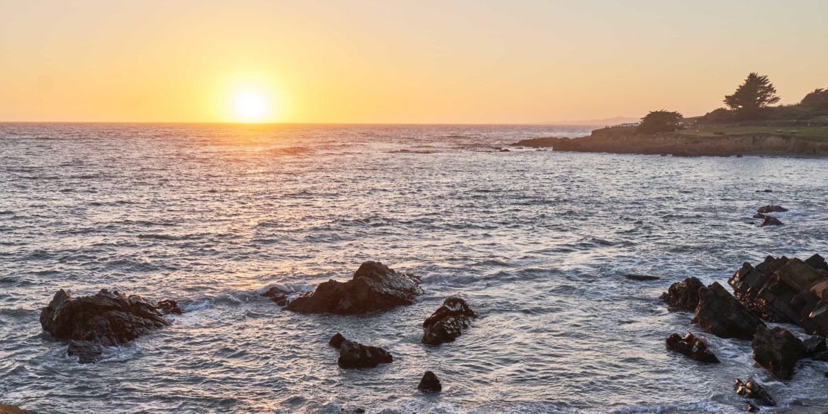 Sunset over Moonstone Beach Cambria