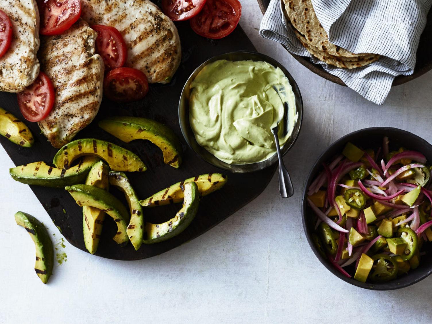 Grilled Chicken with Avocado Three Ways
