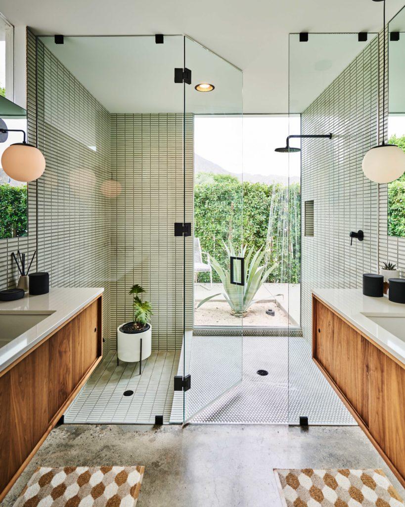 Indoor-Outdoor Shower