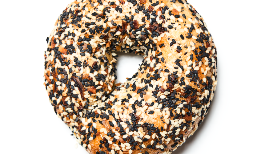 New Wave Market's Nutty Black-and-White Sesame Bagel
