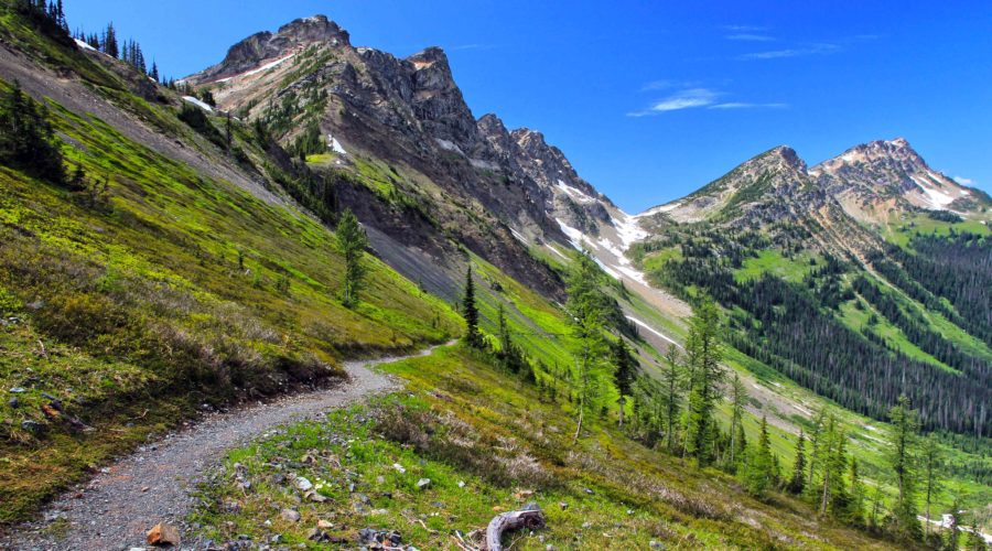An alpine section of the Pacific Crest Trail, which suffers from overtourism