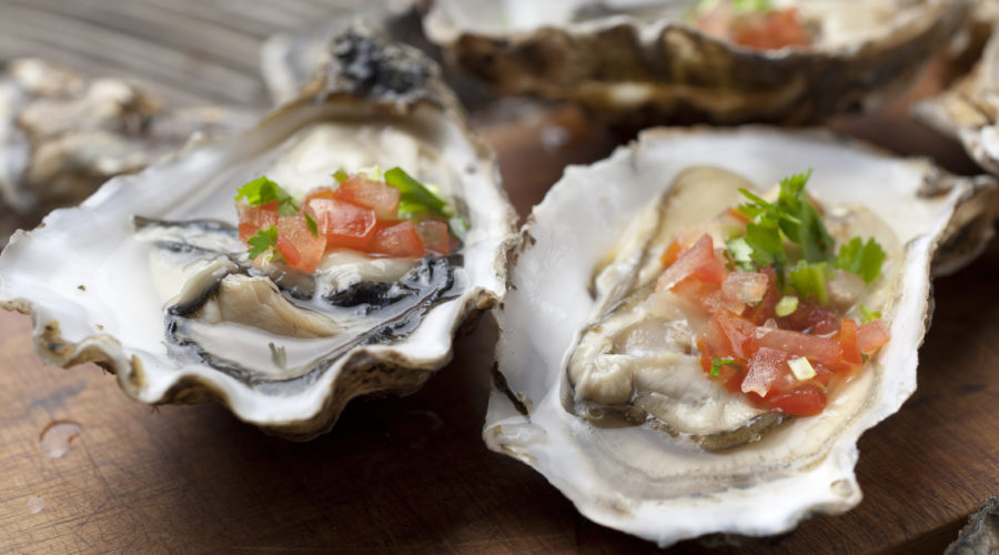 Oyster with salsa