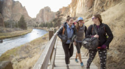 Hikers at Smith Rock State Park