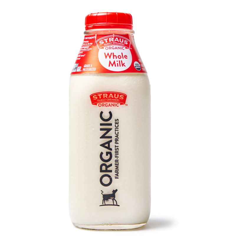 Straus Family Creamery Organic Cream-Top Whole Milk