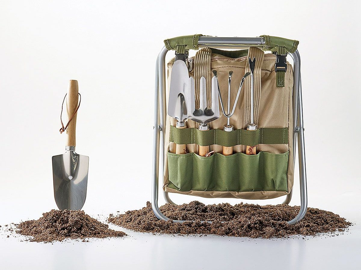 sunset shop gardening stool with tools