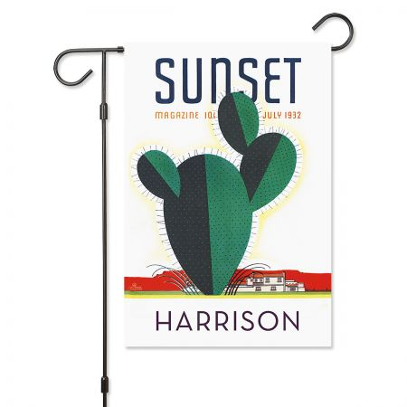 sunset cactus garden flag