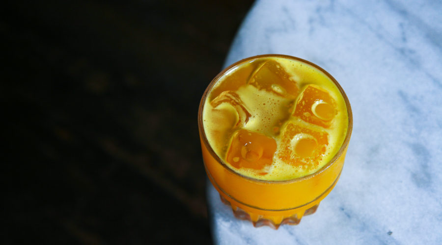 Cocktail on Marble Table