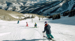 Group skiing down a mountain at Beaver Creek