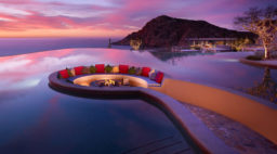 The infinity pool at Montage Los Cabos for thanksgiving couple getaways