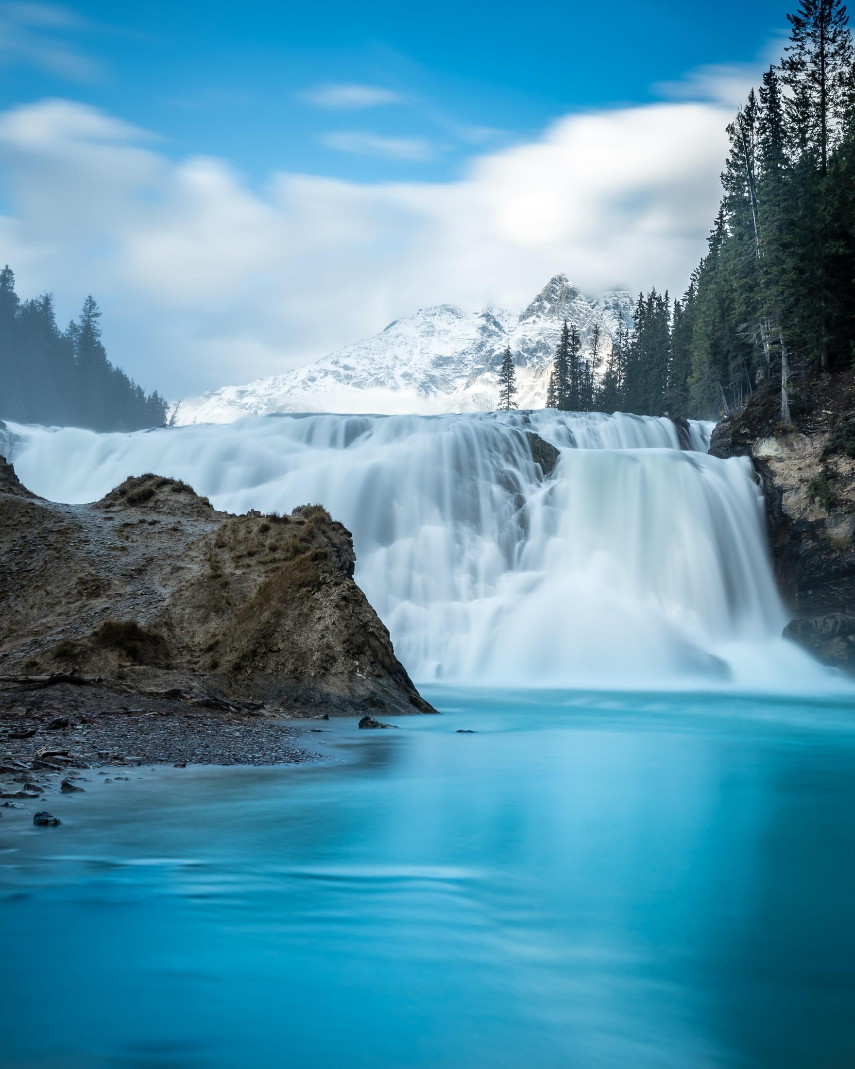 Wapta Falls in Yoho National Park, B.C.