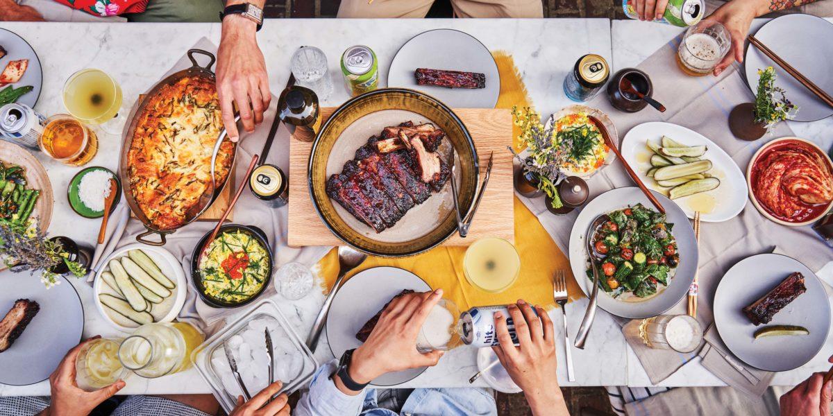 Overhead Dinner Table